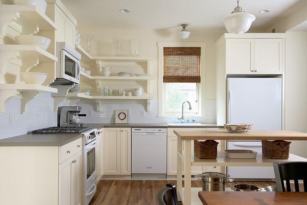 Öppna köksskåp är lättare att använda2 Öppna köksskåp är lättare att använda