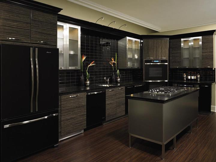 b13 Det oväntade snygga utseendet på svarta köksdesigner