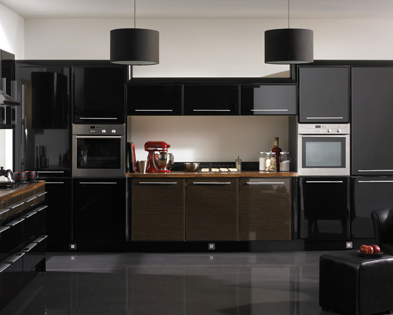 b33 Det oväntade snygga utseendet på svarta köksdesigner