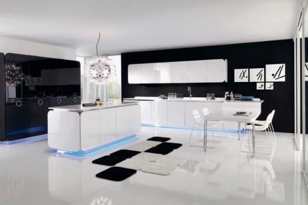 b25 Det oväntade snygga utseendet på svarta köksdesigner