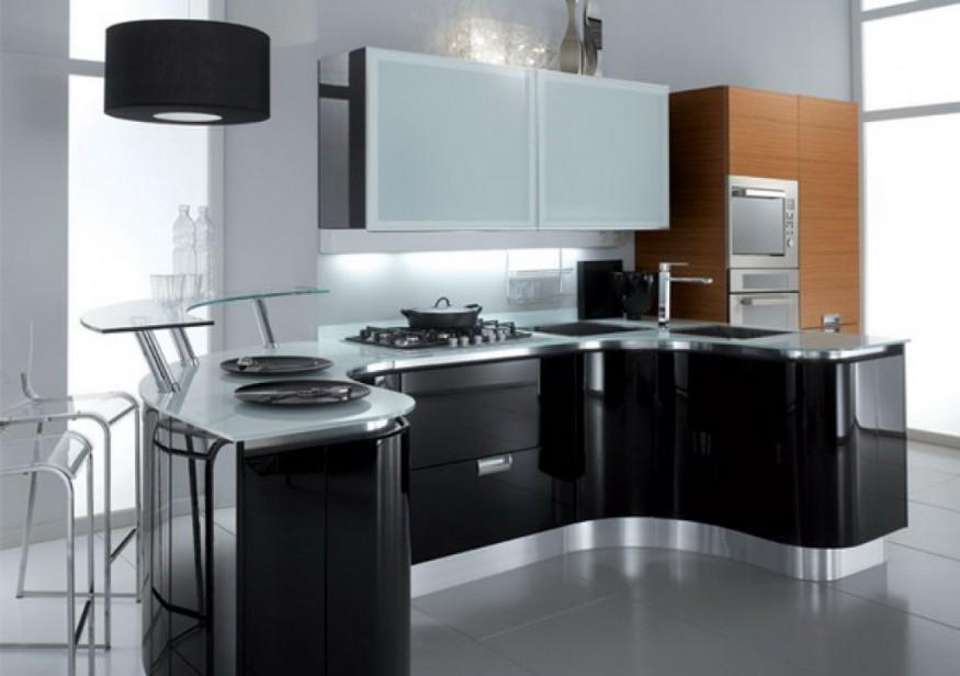 b32 Det oväntade snygga utseendet på svarta köksdesigner