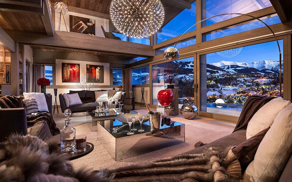 Den lyxiga och imponerande Chalet Mont Mont Blanc Den lyxiga och imponerande Chalet Mont Blanc
