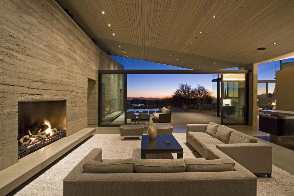 Visa-fönster-i-vardagsrummet-inredning-med-öppen spis-10 Show-fönster i vardagsrummet-inredning med en öppen spis