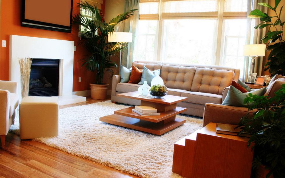 Visa-fönster-i-vardagsrummet-inredning-med-öppen spis-4 Show-fönster i vardagsrummet-inredning-design med en öppen spis
