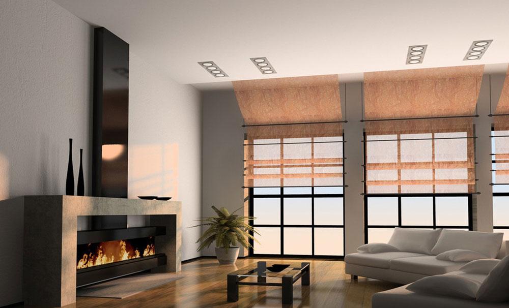 Visa-fönster-i-vardagsrummet-inredning-med-öppen spis-8 Show-fönster i vardagsrummet-inredning med en öppen spis