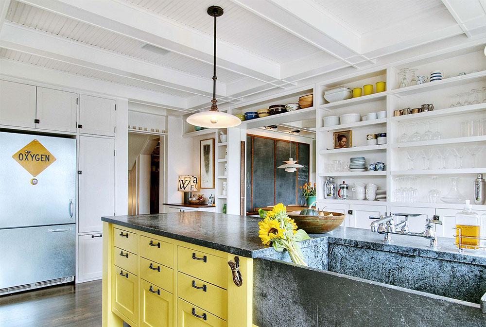 Kök-by-JAS-Design-Build Gult kök: dekorativa mattor, tillbehör och idéer