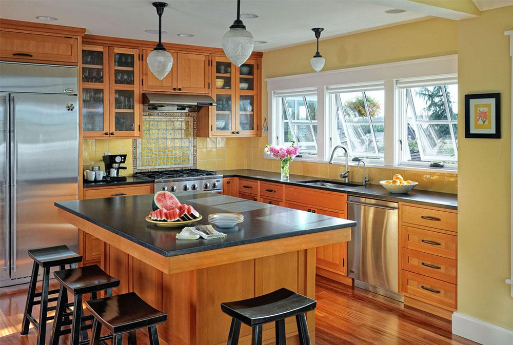 North-Beach-Residence-av-Patricia-Brennan-Architects Gult kök: dekorativa mattor, tillbehör och idéer