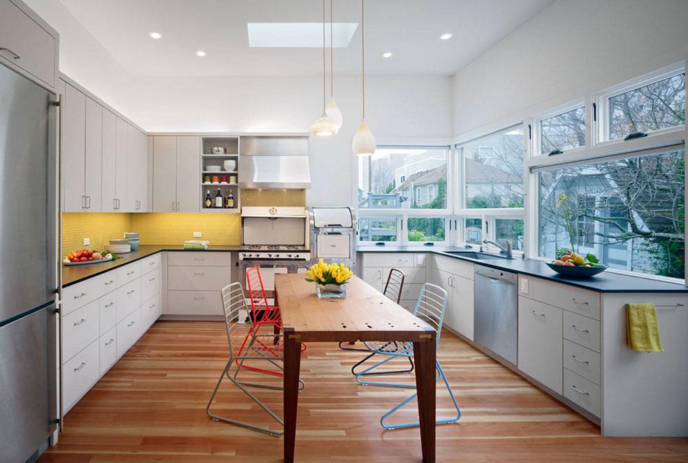 18.-by-Chr-DAUER-Architects Gult kök: dekorativa mattor, tillbehör och idéer