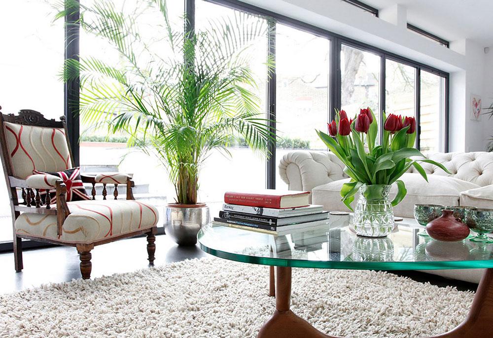 Modernt vardagsrum-stolar-inspirerat-av-blommor-2 Kreativa idéer för att dekorera med blommor