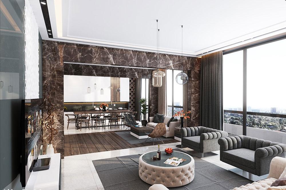 Ultra-Luxury-Apartment-Design-Beirut-Living Room Tips för att hitta den bästa lyxlägenheten