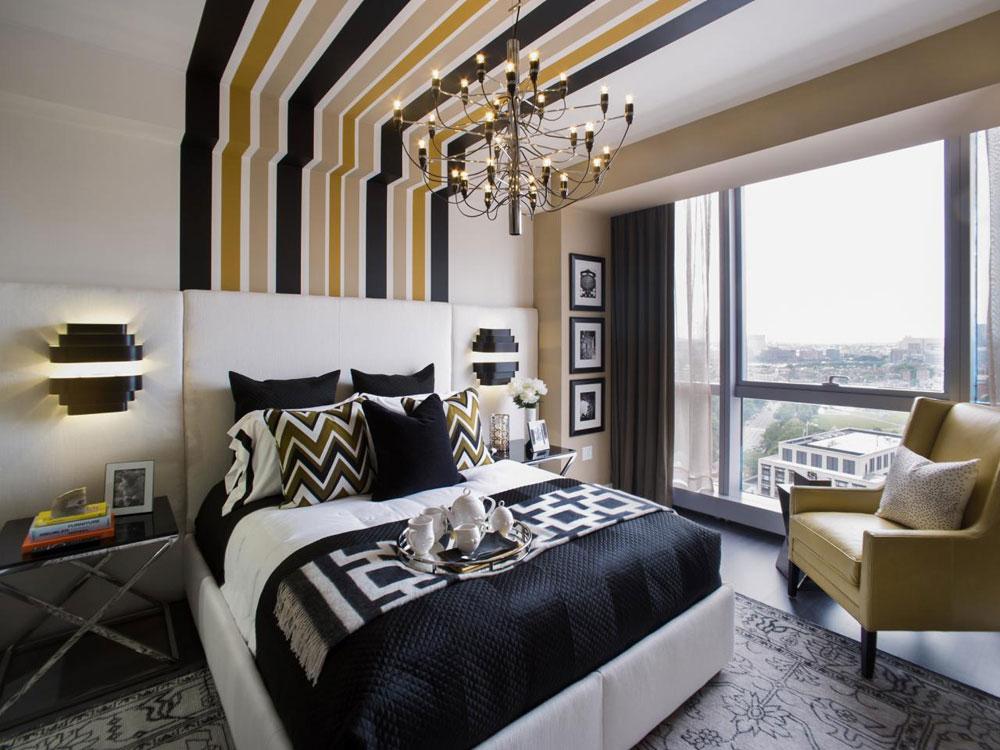 De inte alls extravaganta sovrummen med randiga väggar-12 De alls inte extravaganta sovrummen med randiga väggar