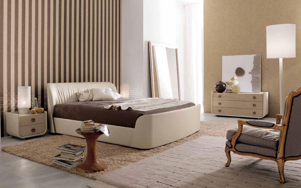 De inte alls extravaganta sovrummen med randiga väggar-7 De alls inte extravaganta sovrummen med randiga väggar