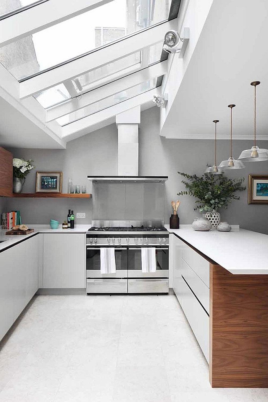 Kök med takfönster för mer naturligt ljus 6 kök med takfönster för mer naturligt ljus