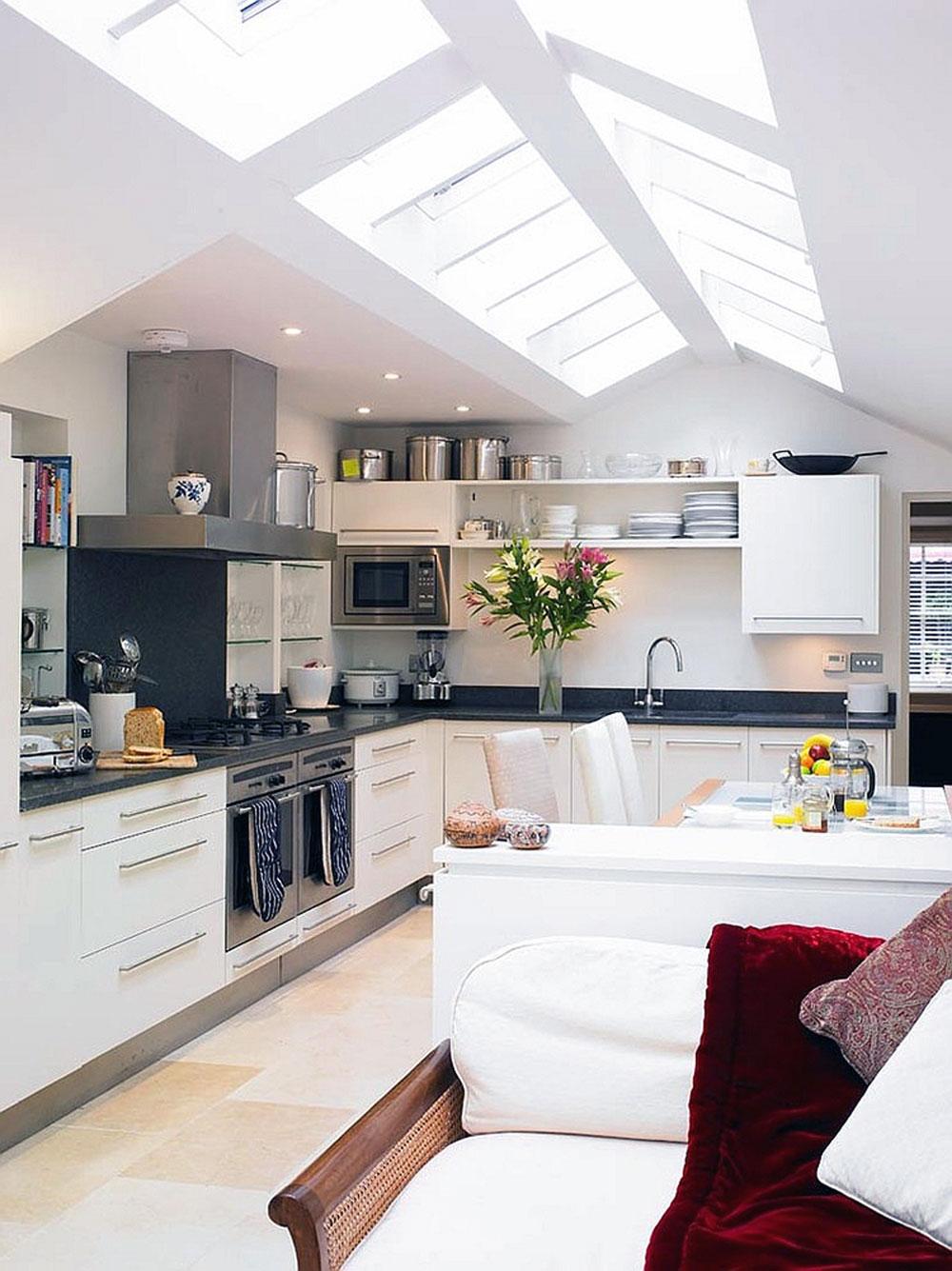 Kök med takfönster för mer naturligt ljus 2 kök med takfönster för mer naturligt ljus