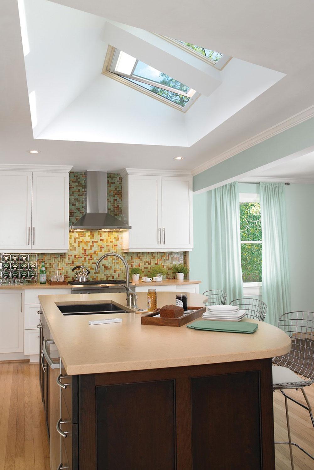 Kök med takfönster för mer naturligt ljus 11 kök med takfönster för mer naturligt ljus