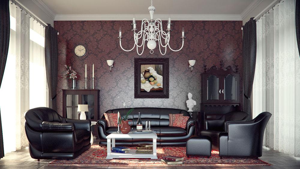 Modern-gotisk-inredning-design-med-dess-egenskaper-och-möbler-4 Modern gotisk inredning med dess egenskaper och möbler