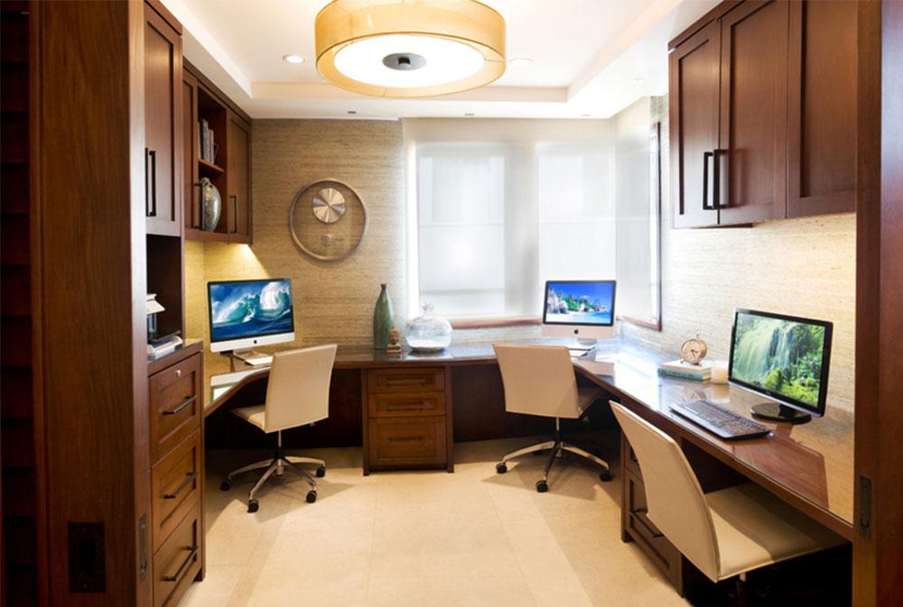 Bild-4-2 Dekorationsidéer för skrivbord och skåp