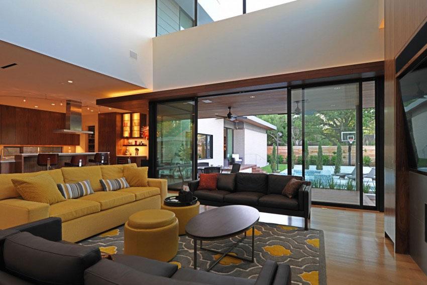 Vackert hollyhus, designat av ett arkitektföretag StudioMET-7 Vackert hollyhus, designat av ett arkitektfirma StudioMET
