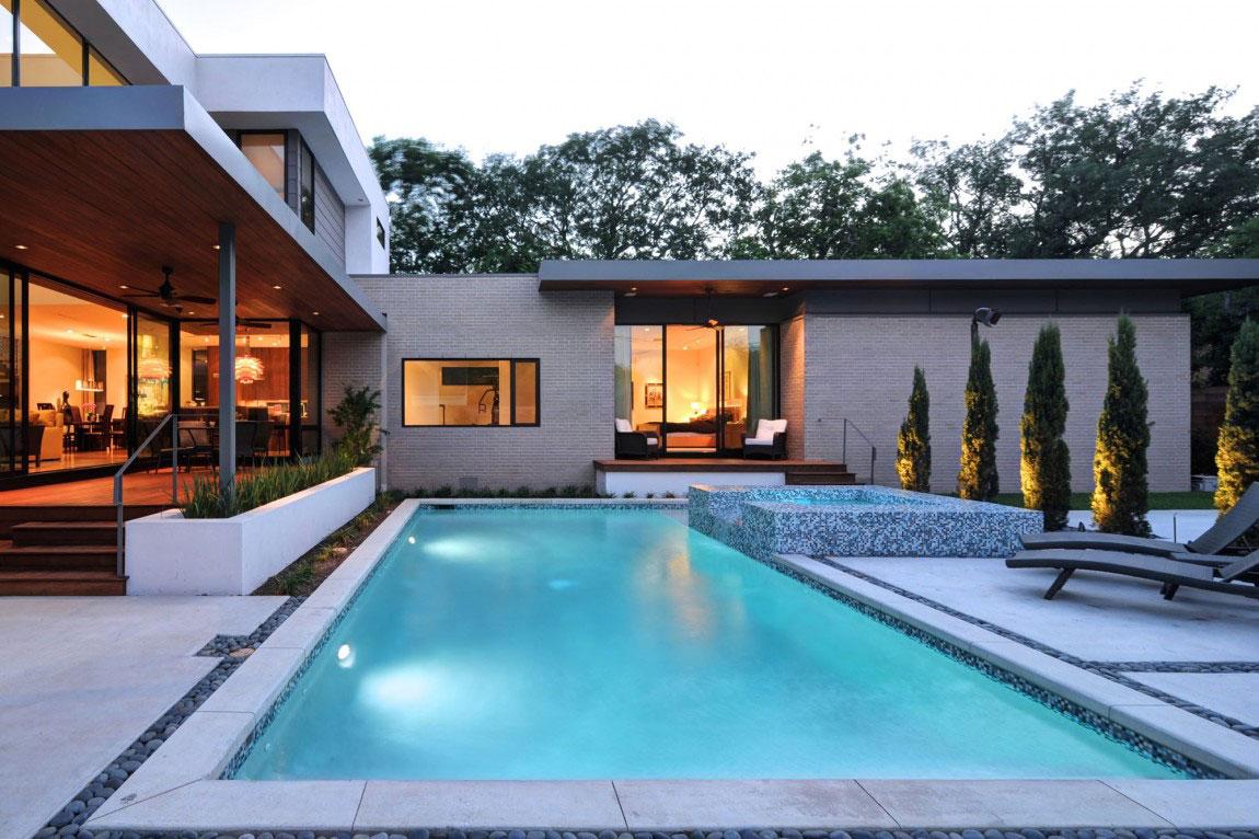 Vackert hollyhus, designat av ett arkitektfirma StudioMET-9 Vackert hollyhus, designat av ett arkitektfirma StudioMET
