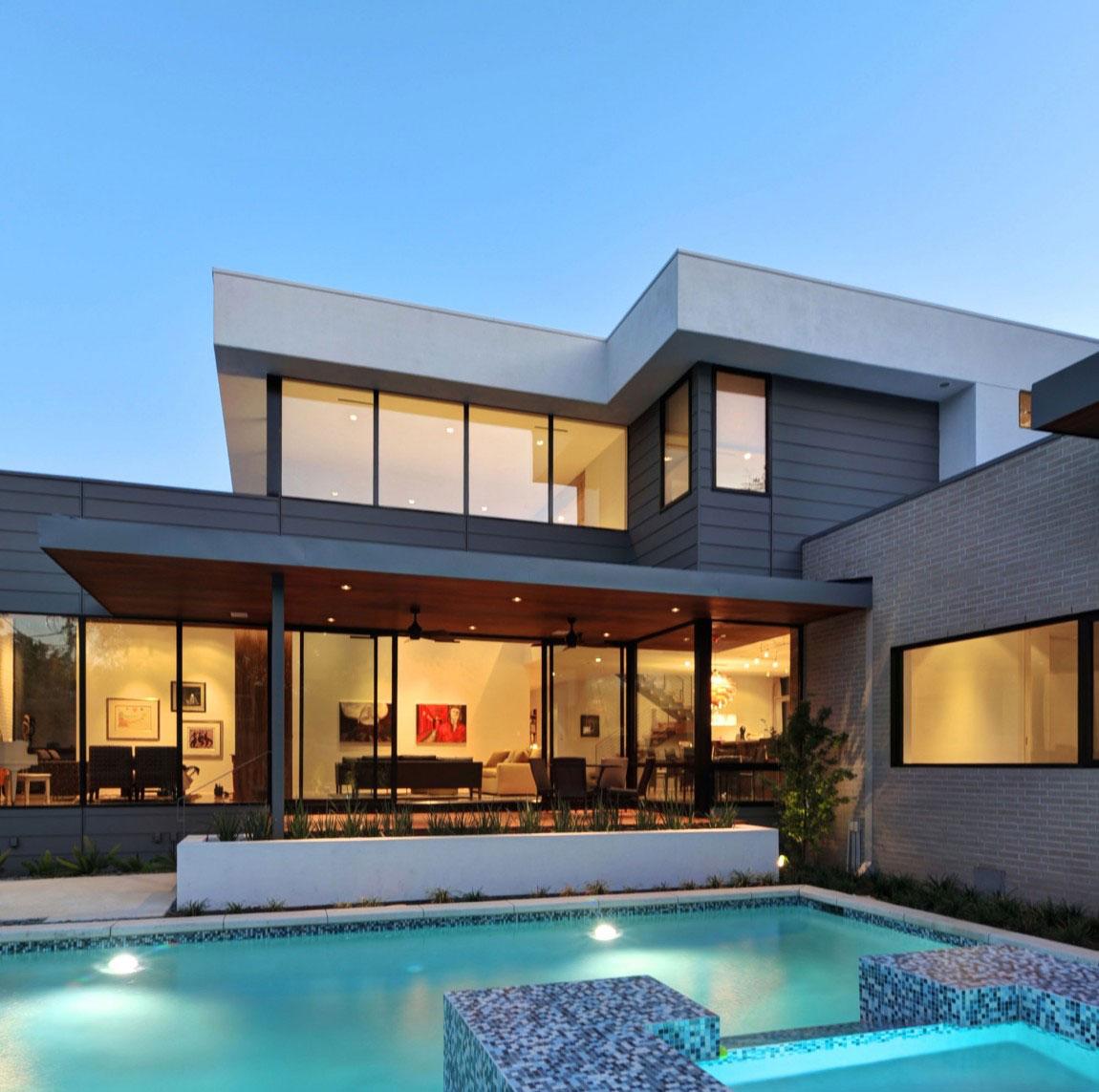Vackert hollyhus, designat av ett arkitektfirma StudioMET-16 Vackert hollyhus, designat av ett arkitektfirma StudioMET