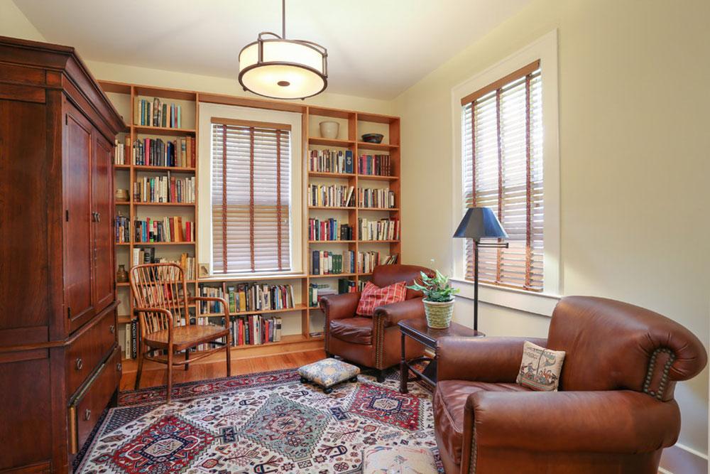 Att skapa ett hembibliotek Design skapar ett avkopplande utrymme14 Att skapa ett hembibliotek Design ger en avkopplande plats