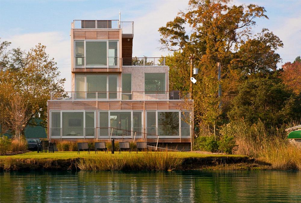 Chesapeake-Bay-House-by-McInturff-Architects Modern Architecture: Moderna byggnader med cool arkitektur