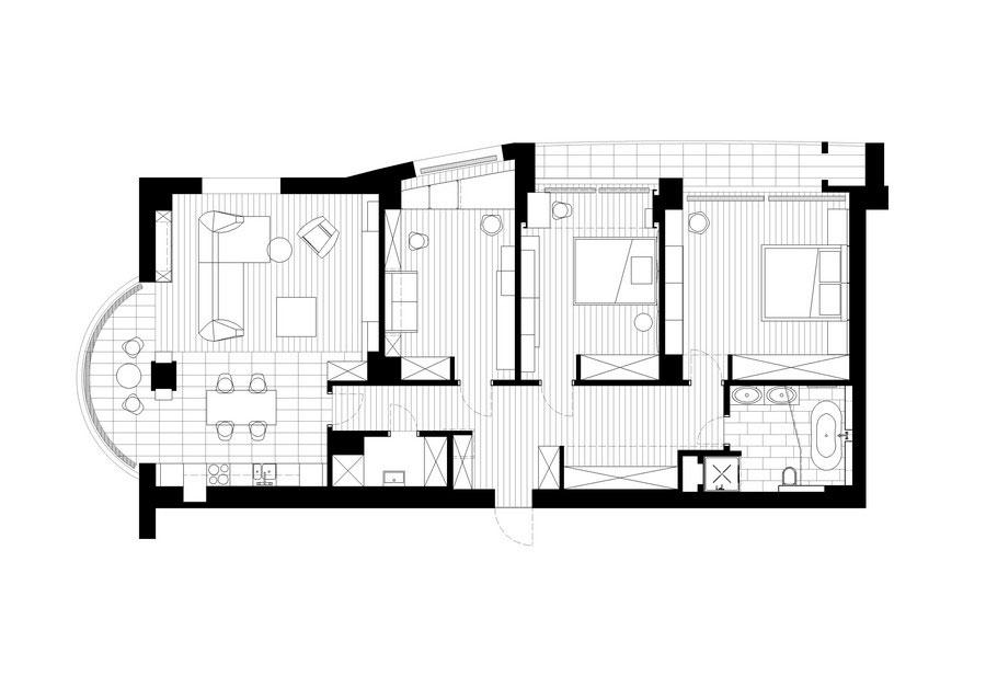 Modern-grafit-takvåning designad av-Denis-Rakaev-30 Modern-grafit-takvåning designad av Denis Rakaev