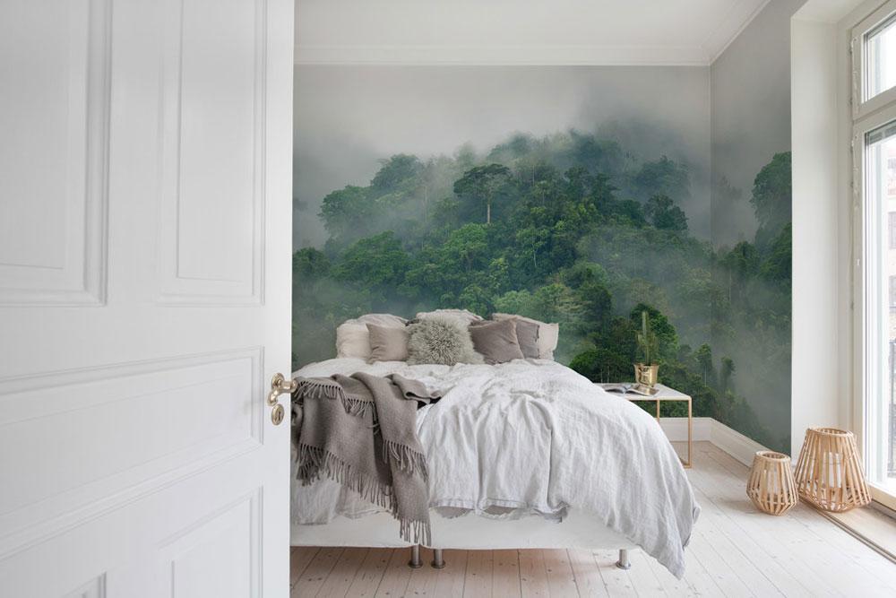 Misty-Forest-by-Rebel-Walls - Gröna sovrumsidéer: design, dekoration och tillbehör