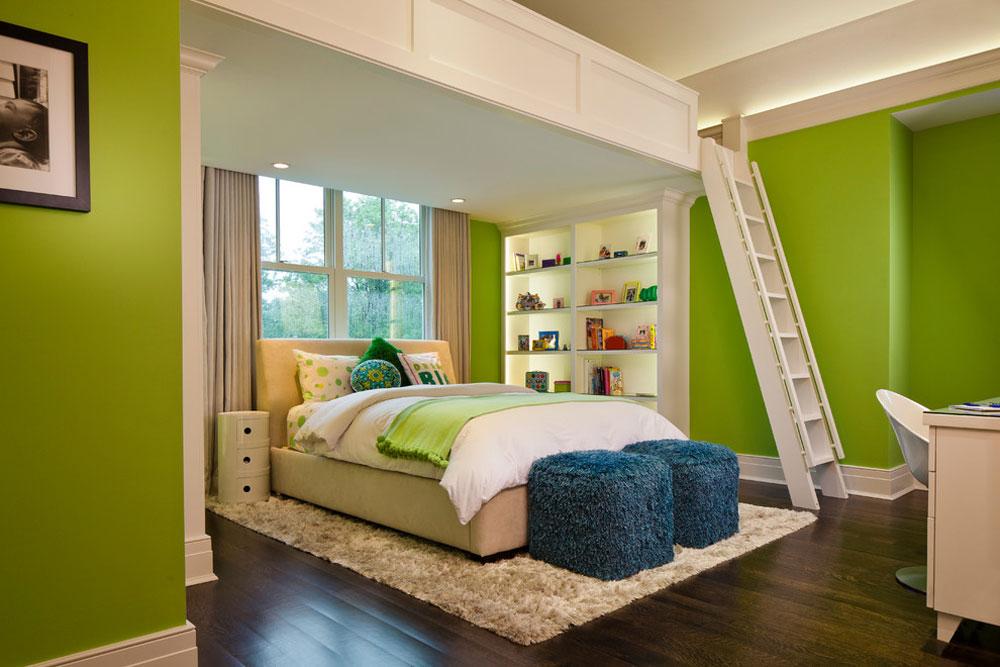 Crescent-Home-av-H.-Gary-Frank-Architects Idéer för gröna sovrum: design, dekoration och tillbehör