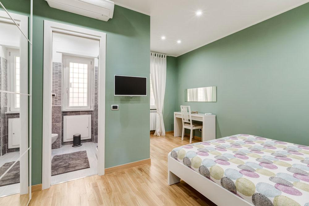 Appartamento-Zona-Vaticano-Roma-av-Luca-Tranquilli-fotograf Gröna sovrumsidéer: design, dekoration och tillbehör