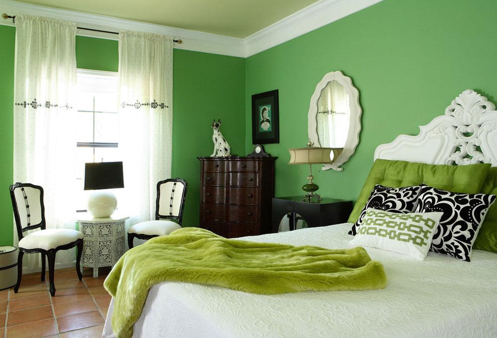 Sovrum-av-design-teori-interiörer-av-Kalifornien-Inc Gröna sovrumsidéer: design, dekor och tillbehör