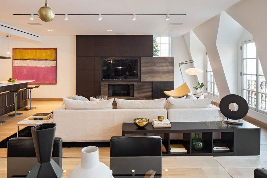 3 Magnifik Tribeca takvåning designad av Turett Collaborative Architects