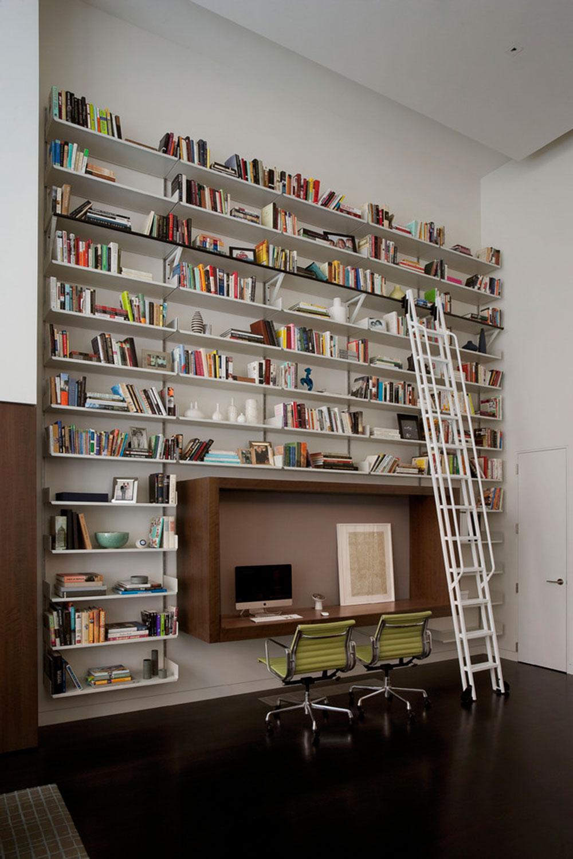 Imponerande-hem-bibliotek-design-idéer-för-2017 - 5 imponerande hembibliotek design-idéer för 2018
