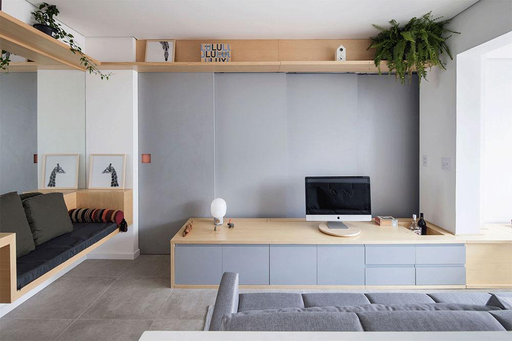 Funktionell-Liten lägenhet-São-Paulo-Brazil_1 Inredningslösningar för din lilla lägenhet