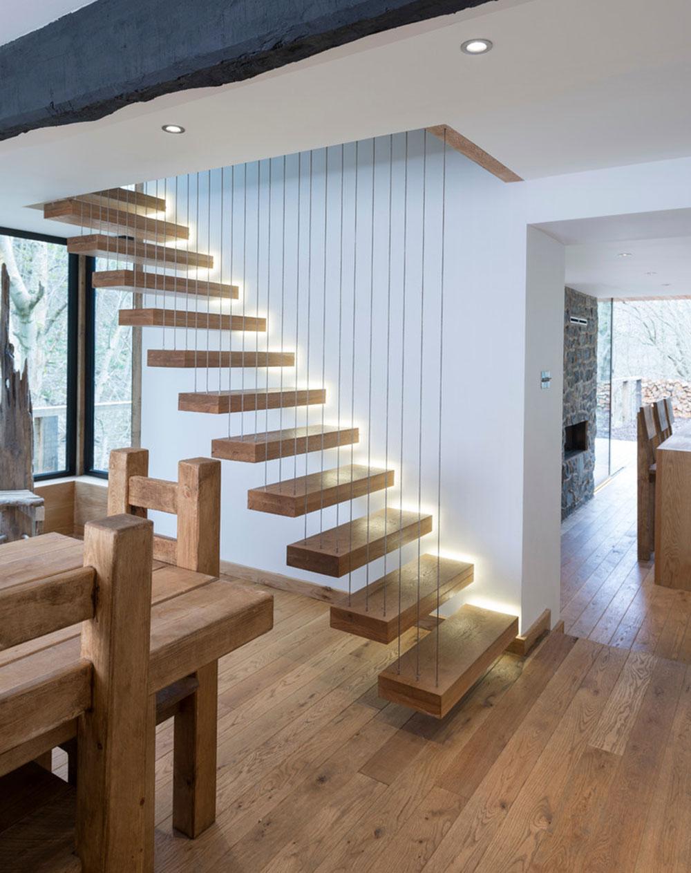 Modern och utsökt flytande trappa6 Moderna och utsökta flytande trappkonstruktioner