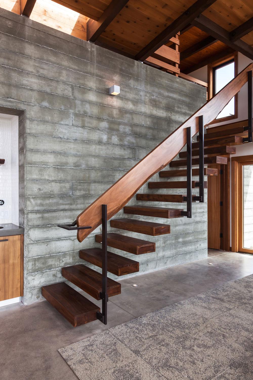 Modern och utsökt flytande trappa2 Moderna och utsökta flytande trappkonstruktioner