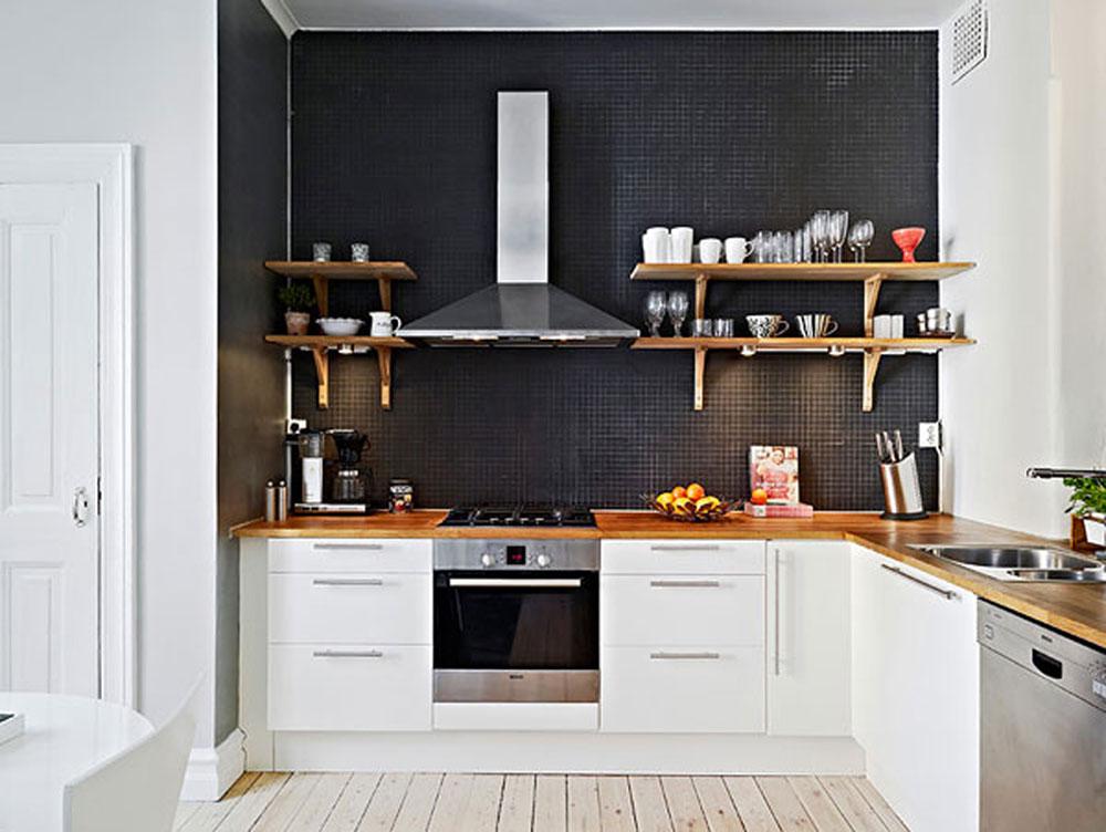 minimalist-kök-des Hur man maximerar utrymmet i ett litet kök