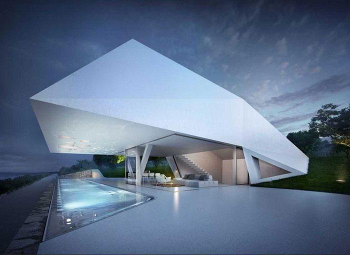 69682797372 Arkitekturfönster: byggnader med skarpa vinklar