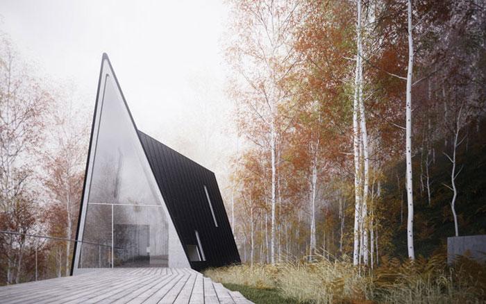 69682670356 Arkitekturfönster: byggnader med skarpa vinklar