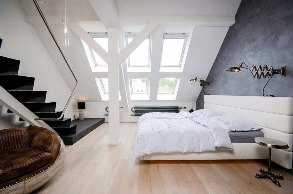 Svart-trappa-loft-sovrum-vit-huvudgavel-brun-stol fastighetsförsäljning: 6 tips för att öka värdet på din fastighet