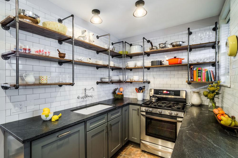 Vintage-galley-by-PowerSmith-design-by-PowerSmith-design Använd hörnhyllor för att få ut det mesta av ditt köksutrymme