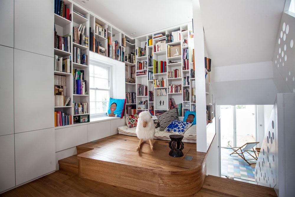 Islington-Reading-Space-by-Shade-Abdul-Architecture Använd hörnhyllor för att få ut det mesta av ditt kök