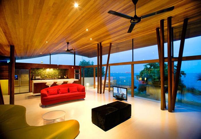 t2 Tropiska vardagsrumsdesigner från paradisets hörn
