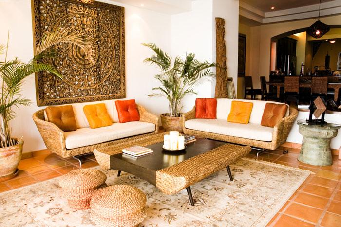 t24 Tropiska vardagsrumsdesigner från paradisets hörn