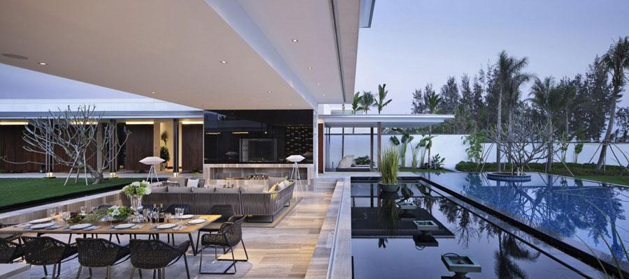 10 modern kinesisk villa med lyxiga funktioner designad av Gad