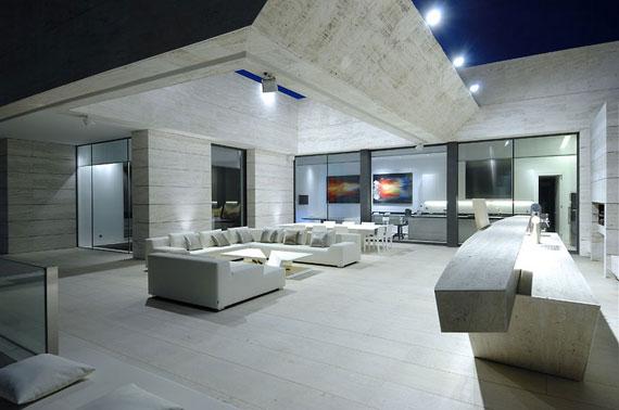 m7 Hus med marmor exteriör designat av A-Cero i Pozuelo de Alarcón, Madrid