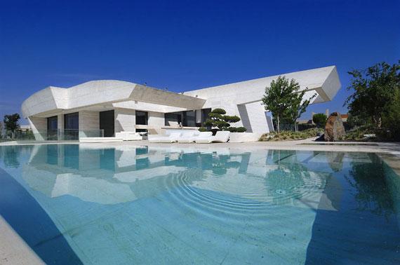 m6 hus med marmor exteriör Designad av A-Cero i Pozuelo de Alarcón, Madrid