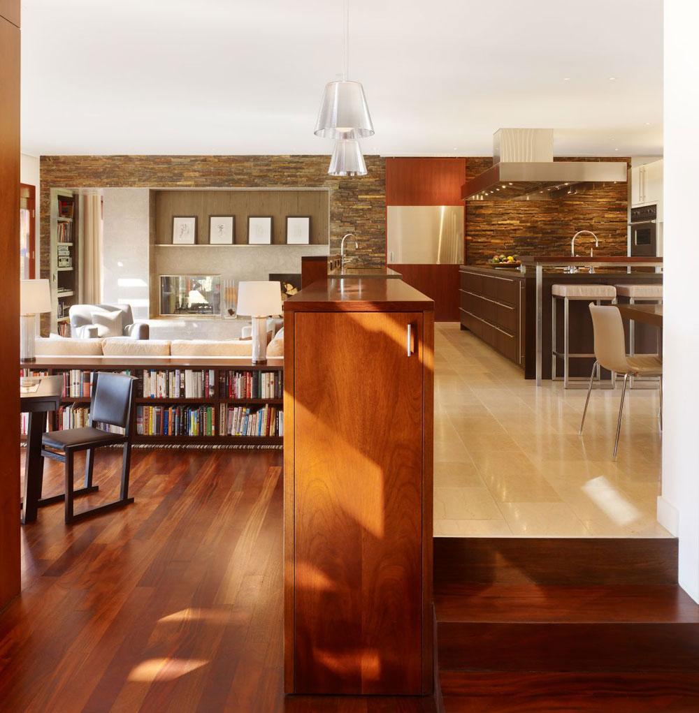 Lyxigt hem omgivet av träd som kompletterar dess eleganta möbler 9 Lyxigt hem omgivet av träd som kompletterar dess eleganta möbler
