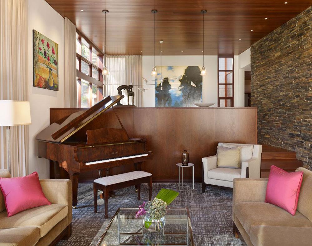 Lyxigt hem omgivet av träd som kompletterar sina eleganta möbler 8 Lyxigt hem omgivet av träd som kompletterar dess eleganta möbler