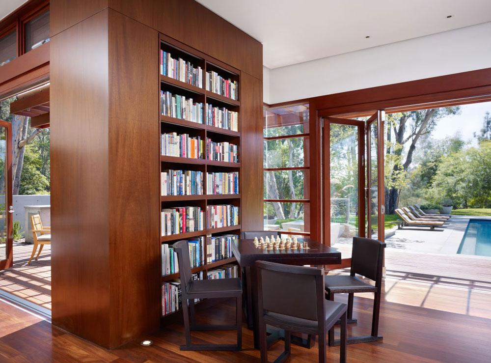 Lyxigt hem omgivet av träd som kompletterar sina eleganta möbler 6 Lyxigt hem omgivet av träd som kompletterar dess eleganta möbler